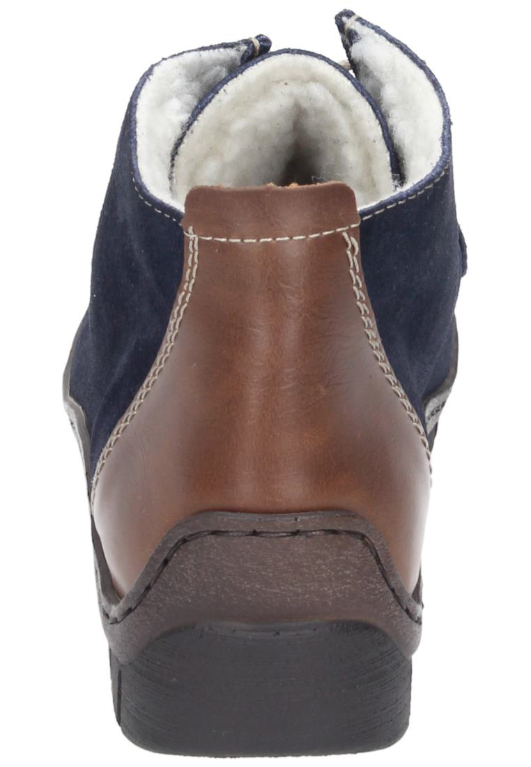 rieker ankle boots 990784 5 suede synthetic marina mogano blue ebay. Black Bedroom Furniture Sets. Home Design Ideas